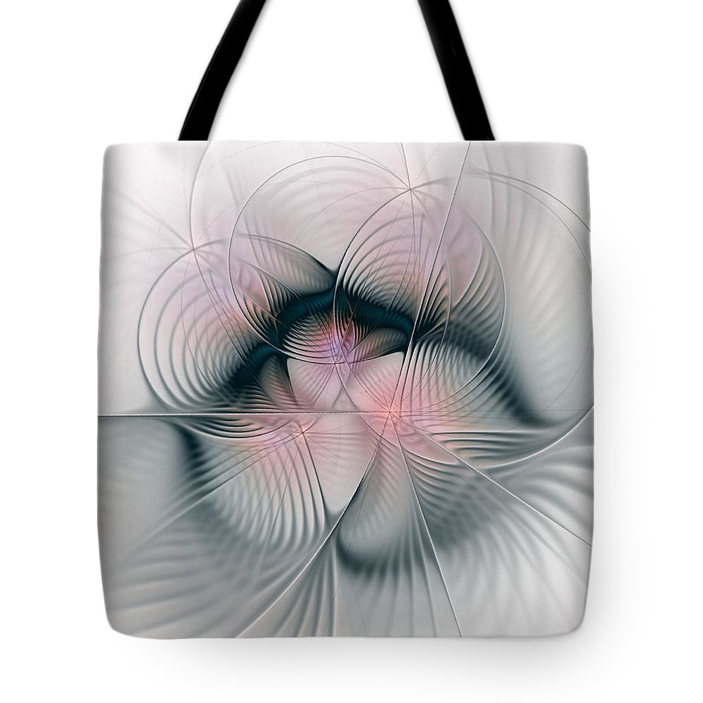 Fractal Tote Bag featuring the digital art Junos Mercy - Fractal Art by NirvanaBlues