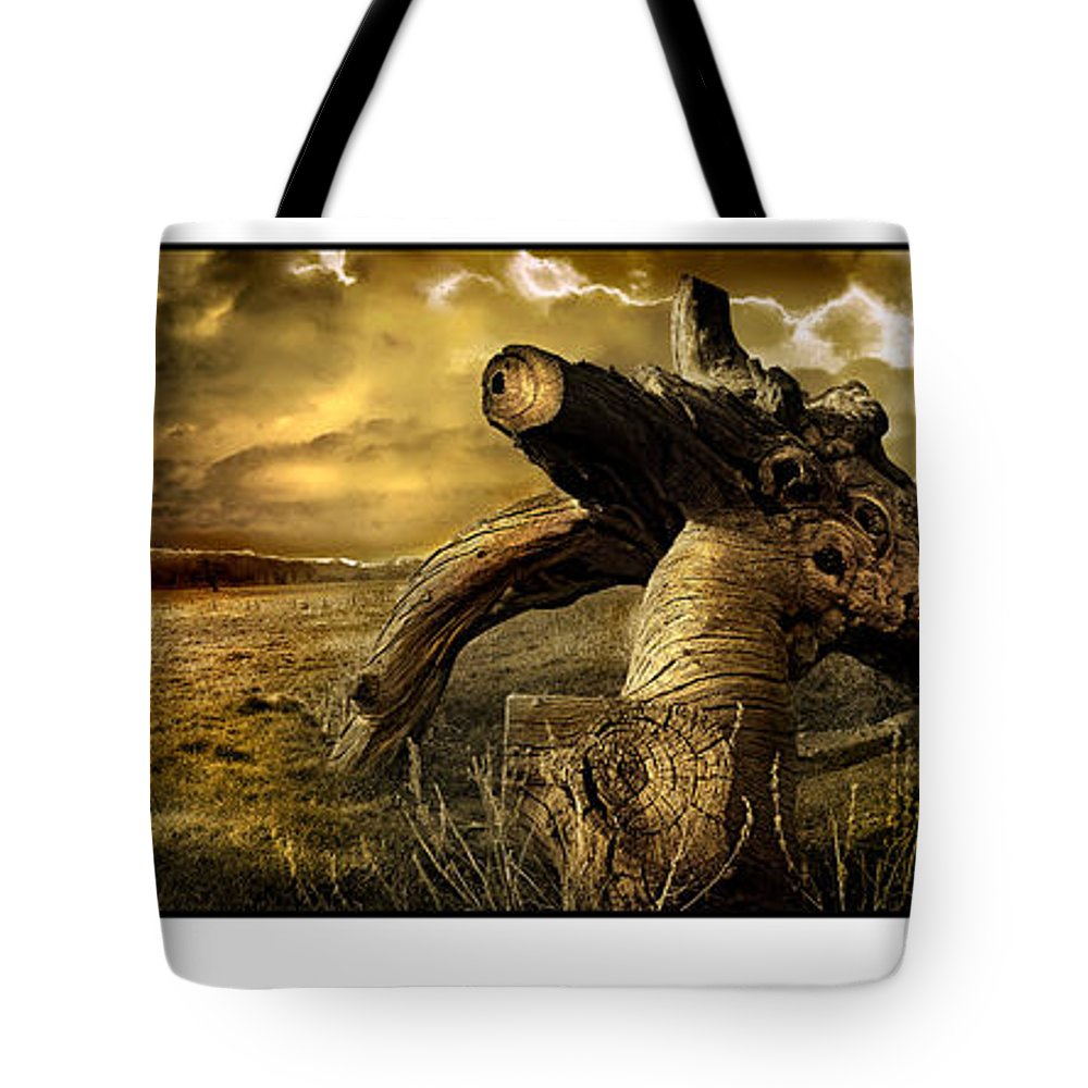 Landscape Tote Bag featuring the photograph Jurassic Tree by Mal Bray