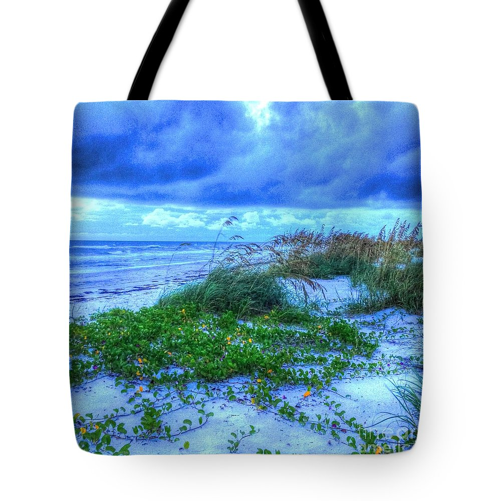 Beach Tote Bag featuring the photograph Just Beachy by Debbi Granruth
