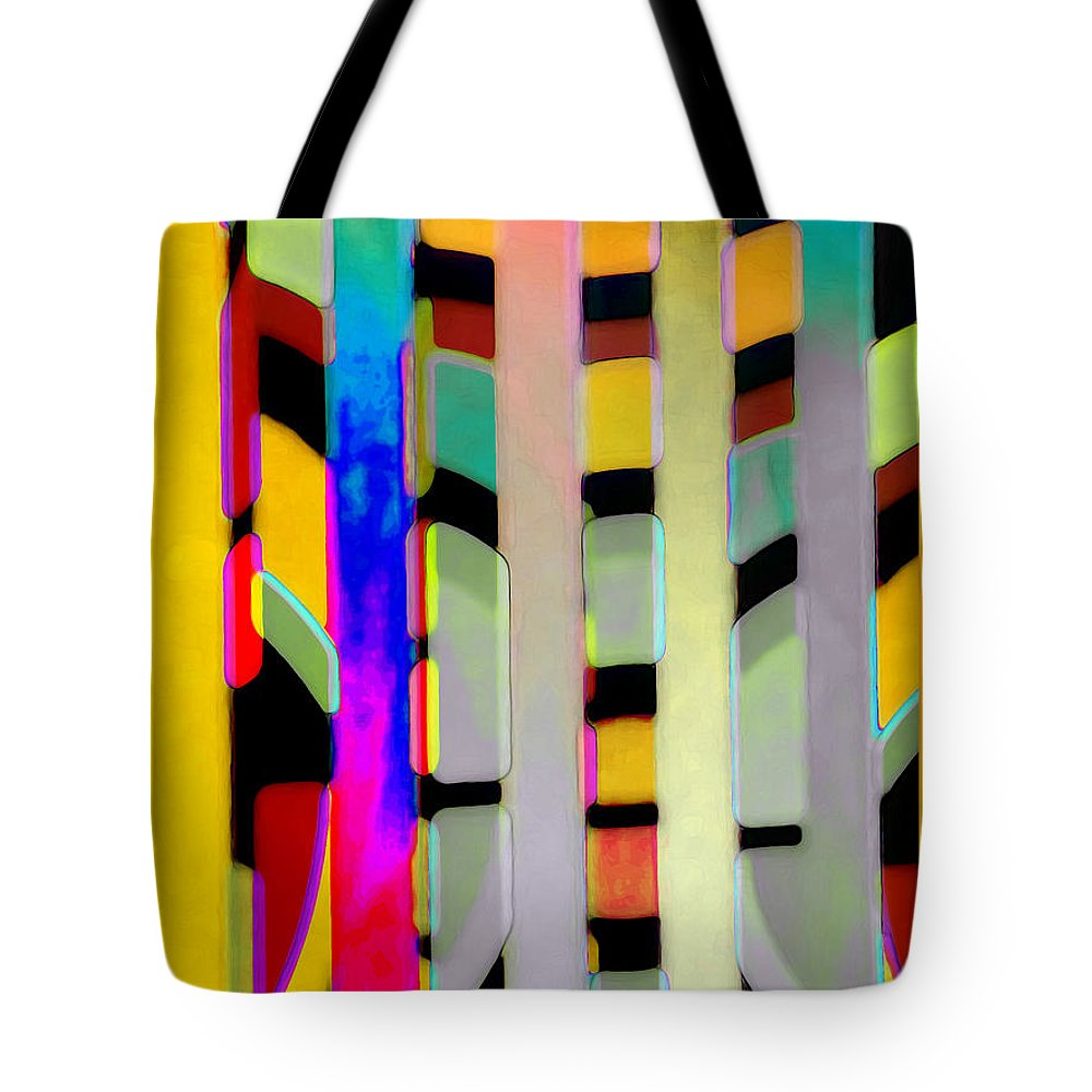 Abstract Tote Bag featuring the photograph Just Color 2 by Linda Parker