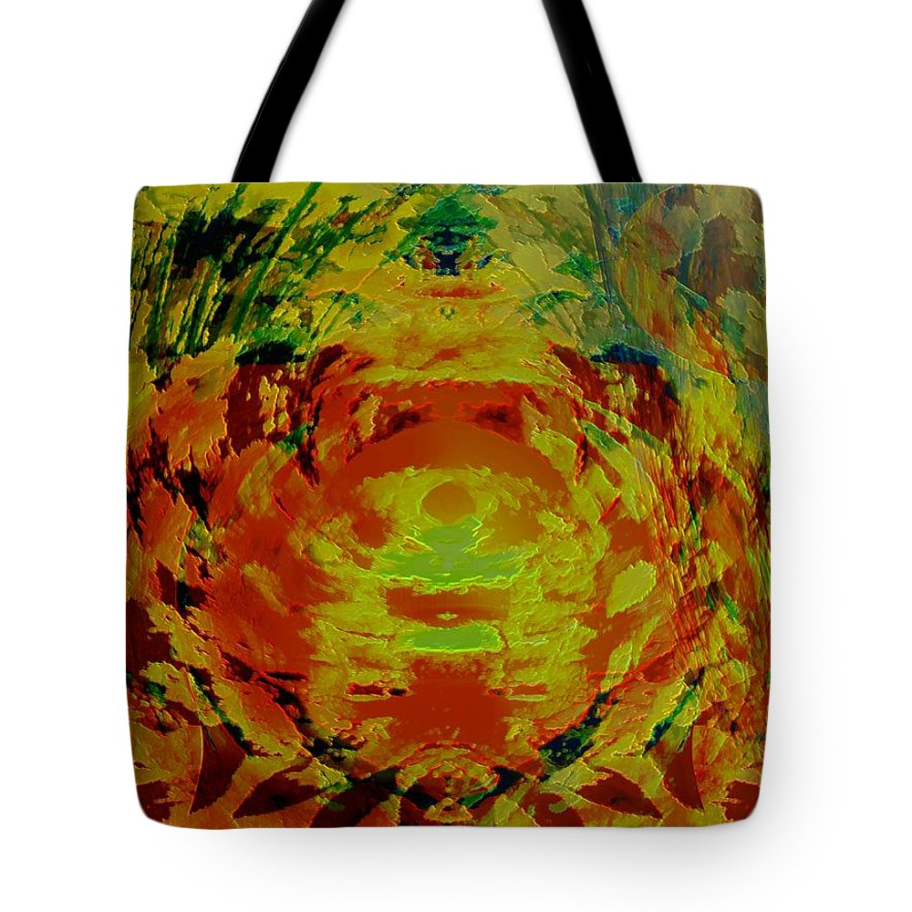 Flowers Tote Bag featuring the digital art Just Flowers by Helmut Rottler
