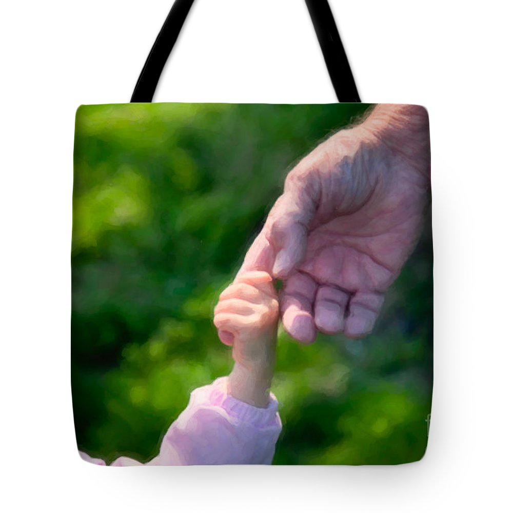 Family Tote Bag featuring the photograph Just Follow Me by Karen Lee Ensley