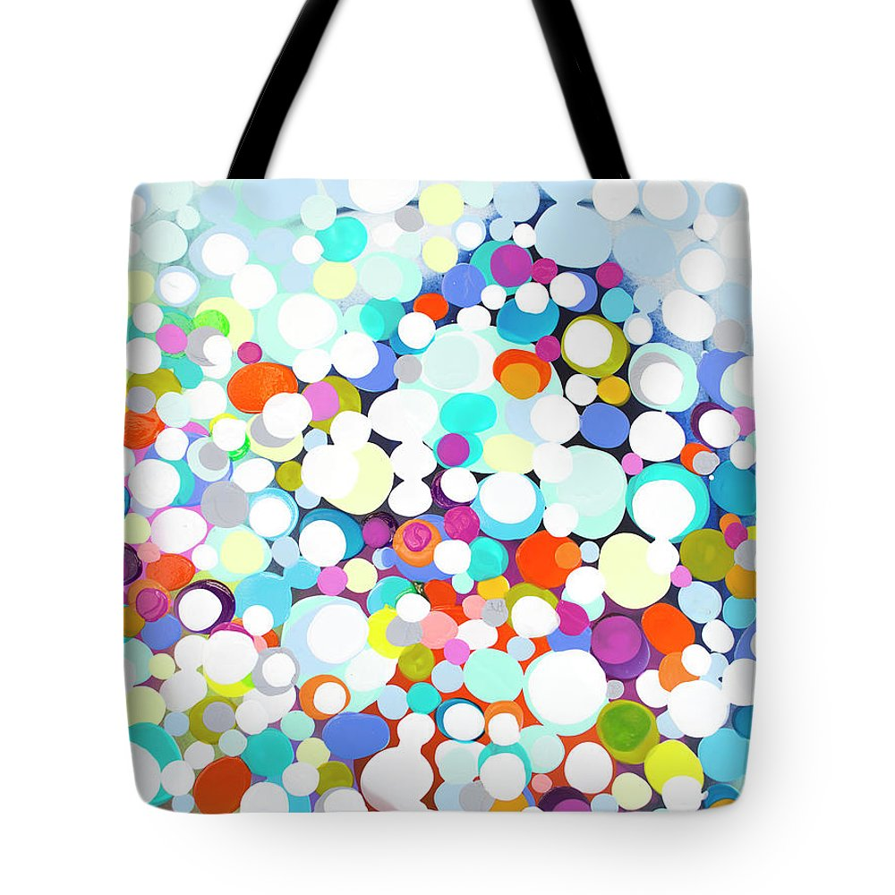 Abstract Tote Bag featuring the painting Just For Fun by Claire Desjardins