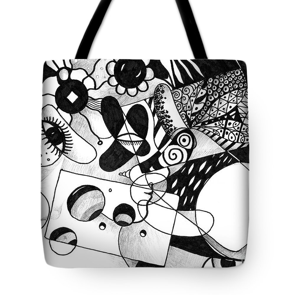 Halloween Tote Bag featuring the drawing Just In Time by Helena Tiainen