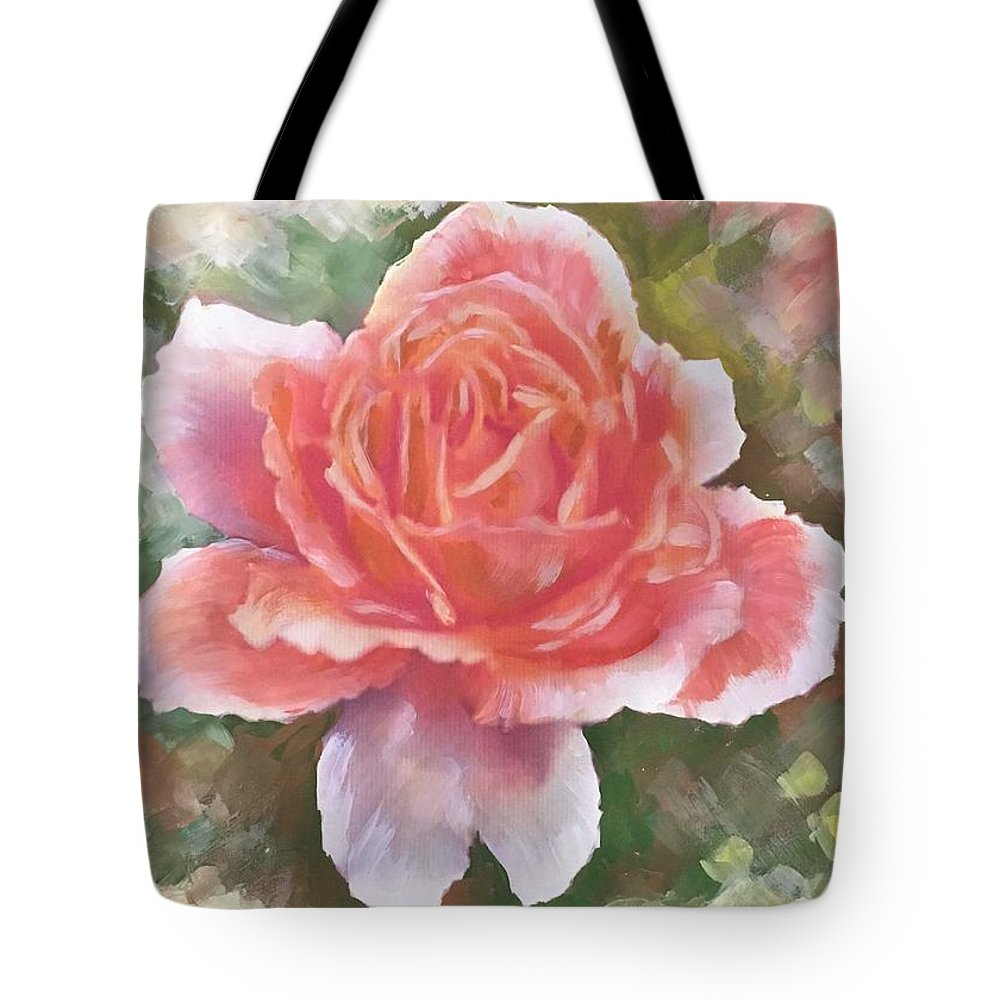 Just Joey Rose Tote Bag featuring the painting Just Joey Rose From The Acrylic Painting by Ryn Shell