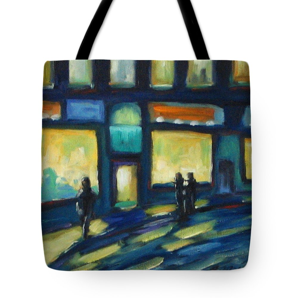 Town Tote Bag featuring the painting Just Looking by Richard T Pranke