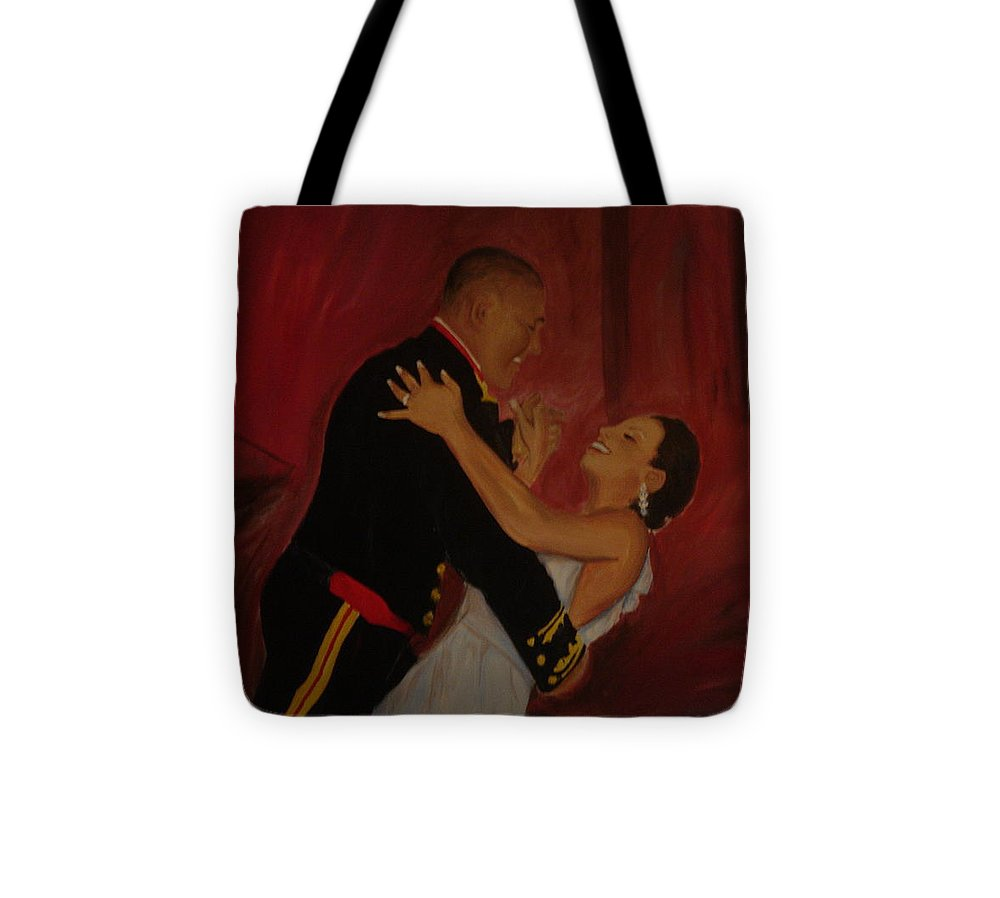 Marine Tote Bag featuring the painting Just Married by Regina Walsh