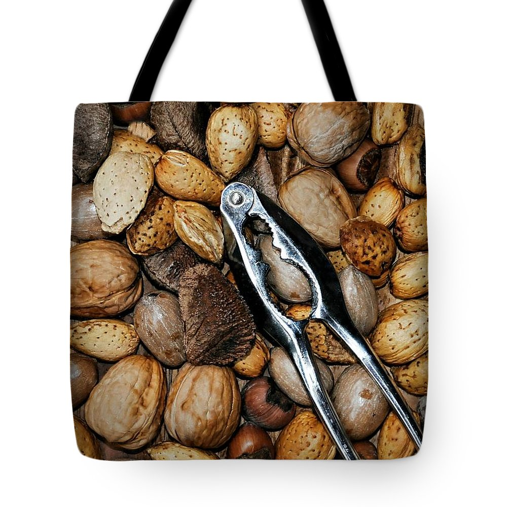 Nuts Tote Bag featuring the photograph Just Nuts by Diana Angstadt