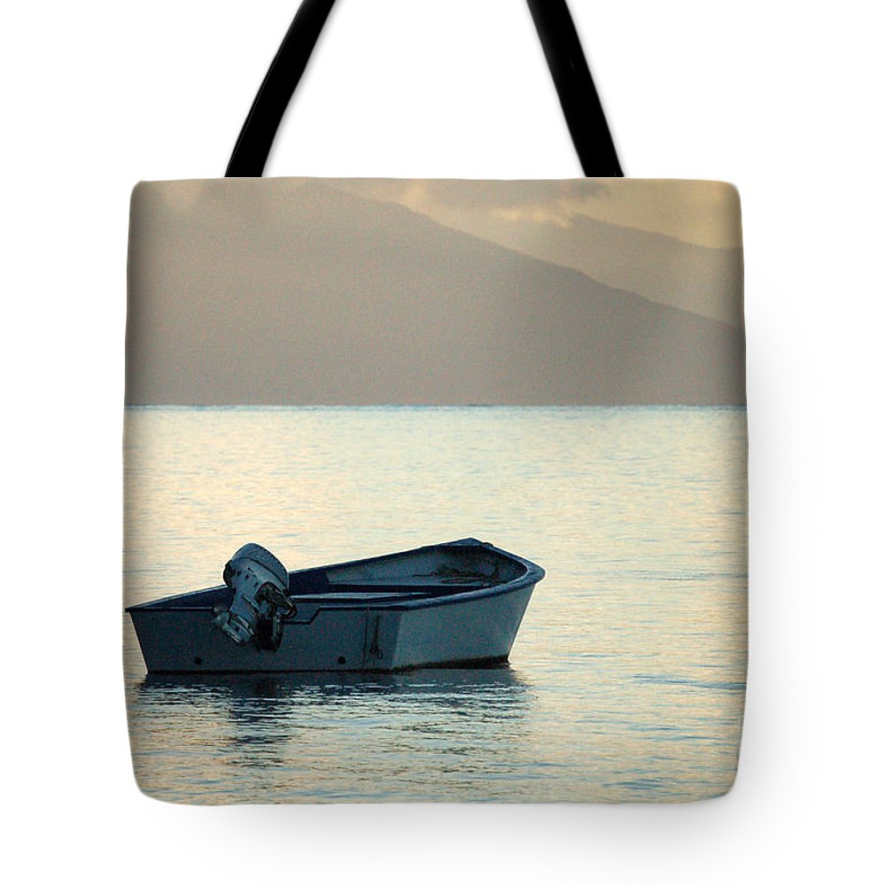 Boat Tote Bag featuring the photograph Just Off Molokai by Terry Holliday