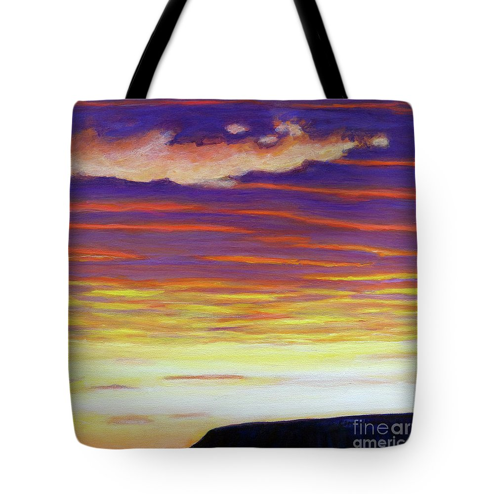 Skyscape Tote Bag featuring the painting Just Passing Through by Brian Commerford