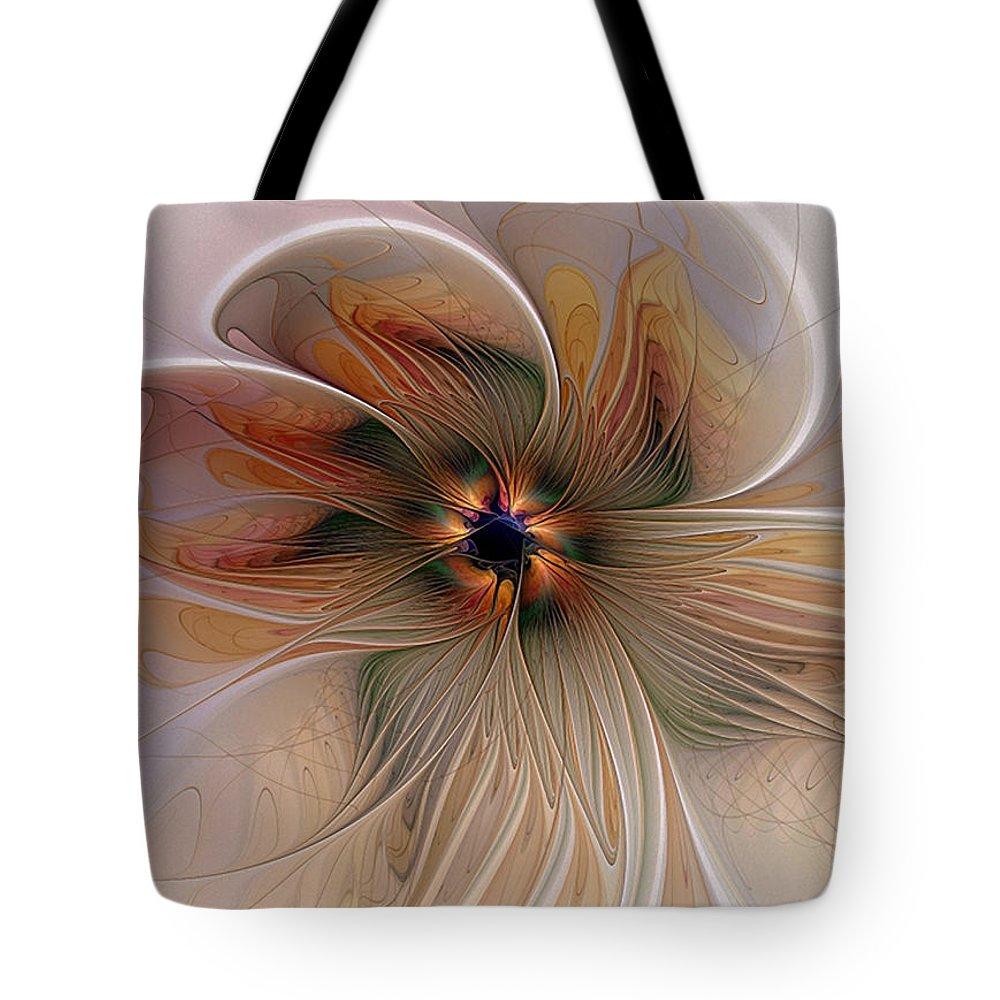 Digital Art Tote Bag featuring the digital art Just Peachy by Amanda Moore