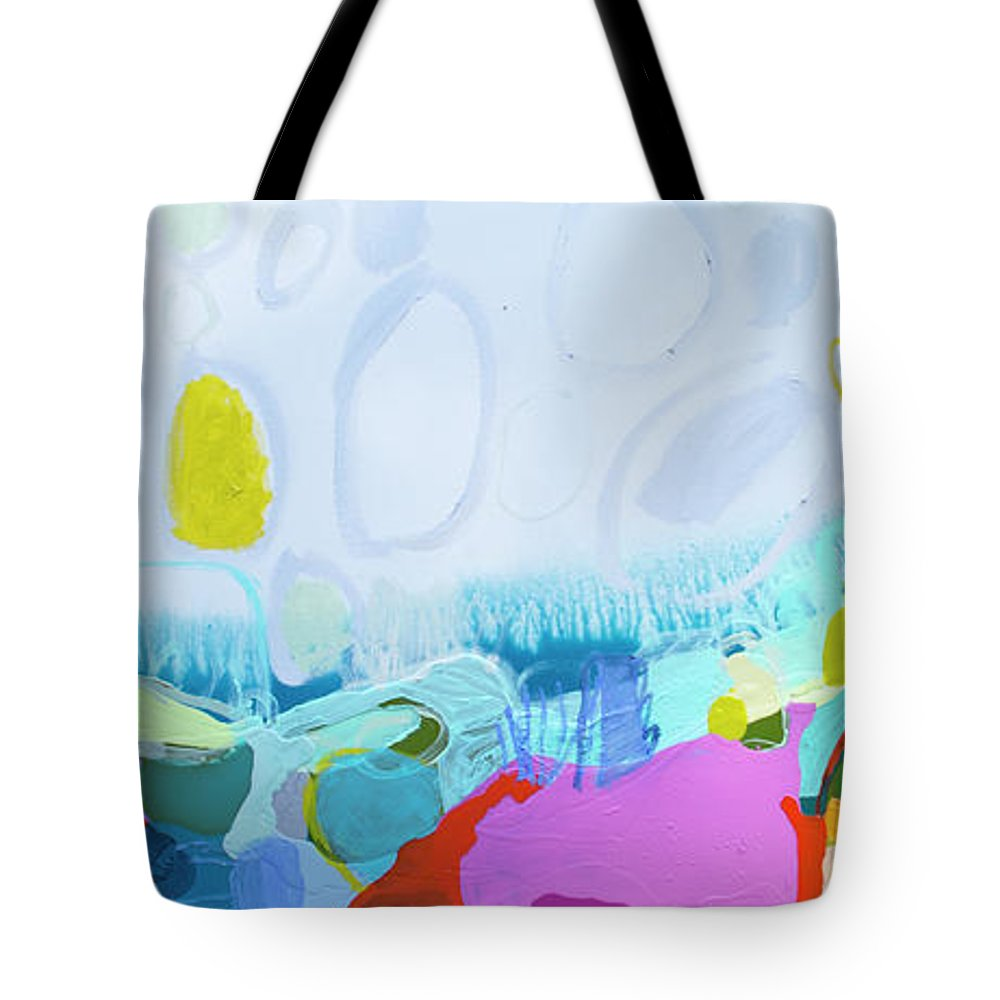 Abstract Tote Bag featuring the painting Just Sing by Claire Desjardins