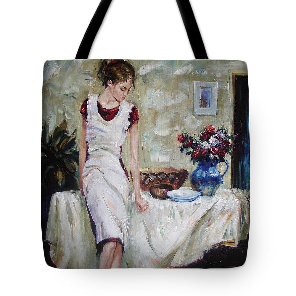 Figurative Tote Bag featuring the painting Just The Next Day by Sergey Ignatenko