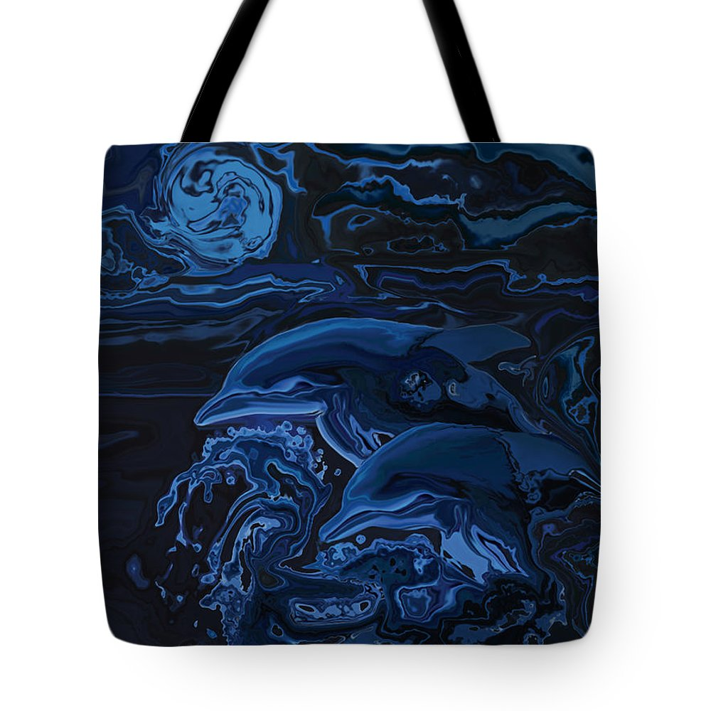 Animal Tote Bag featuring the digital art Just The Two Of Us by Rabi Khan