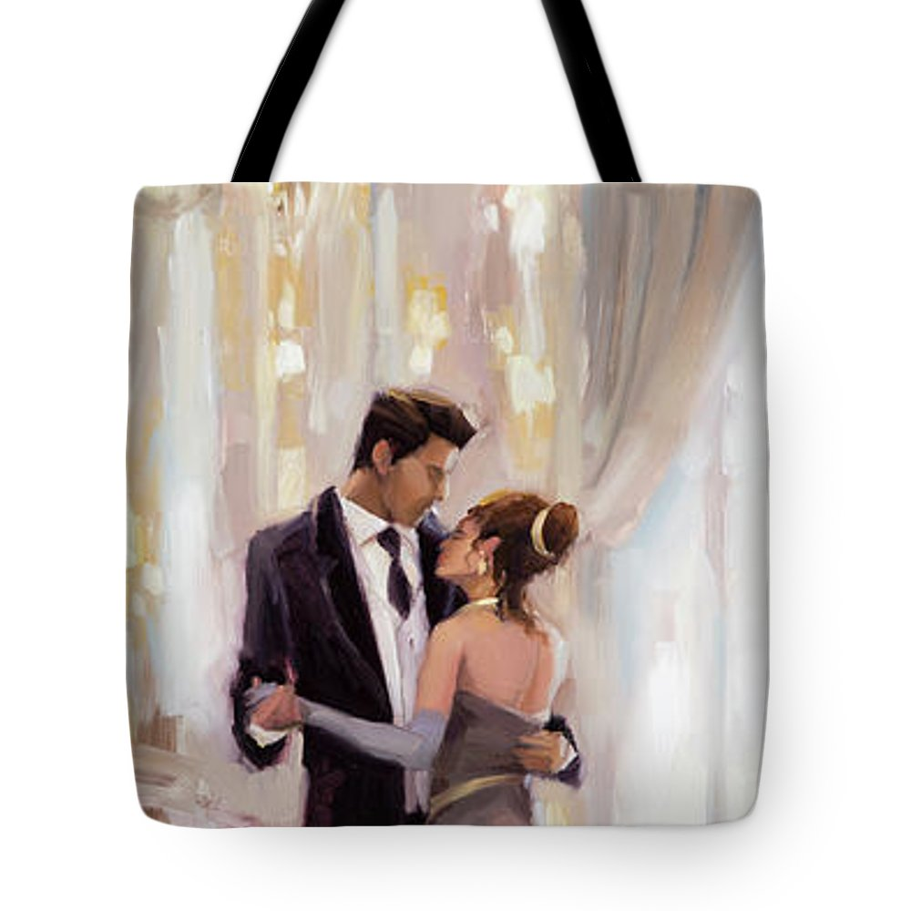 Romance Tote Bag featuring the painting Just The Two Of Us by Steve Henderson