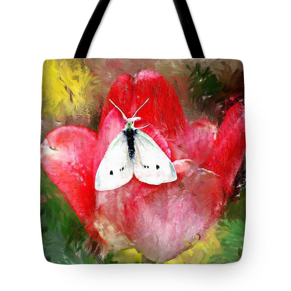 Digital Photo Tote Bag featuring the photograph Just Visiting by David Lane