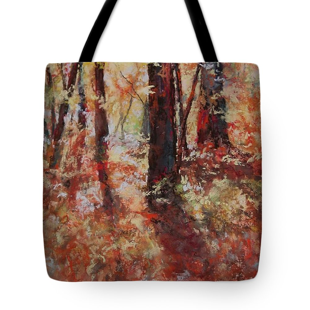 Landscape Tote Bag featuring the painting Just Waking by Marlene Gremillion