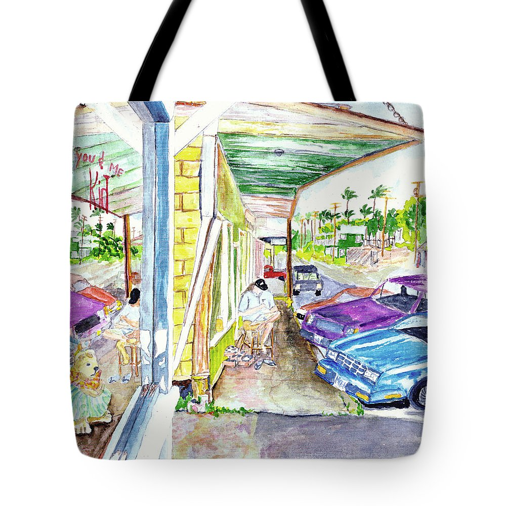 Paia Tote Bag featuring the painting Just You And Me by Eric Samuelson