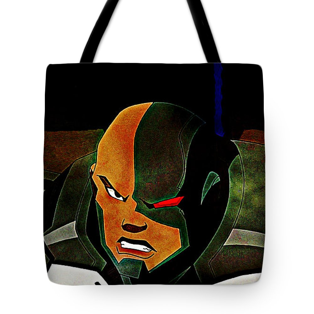 Justice League Doom Tote Bag featuring the digital art Justice League Doom by Lora Battle