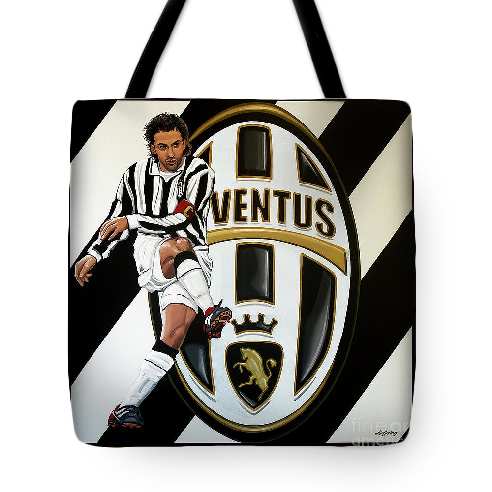 Juventus Tote Bag featuring the painting Juventus Fc Turin Painting by Paul Meijering