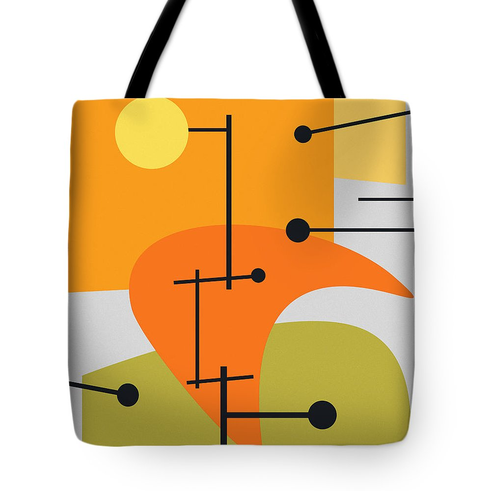Abstract Tote Bag featuring the digital art Juxtaposing Thoughts by Richard Rizzo