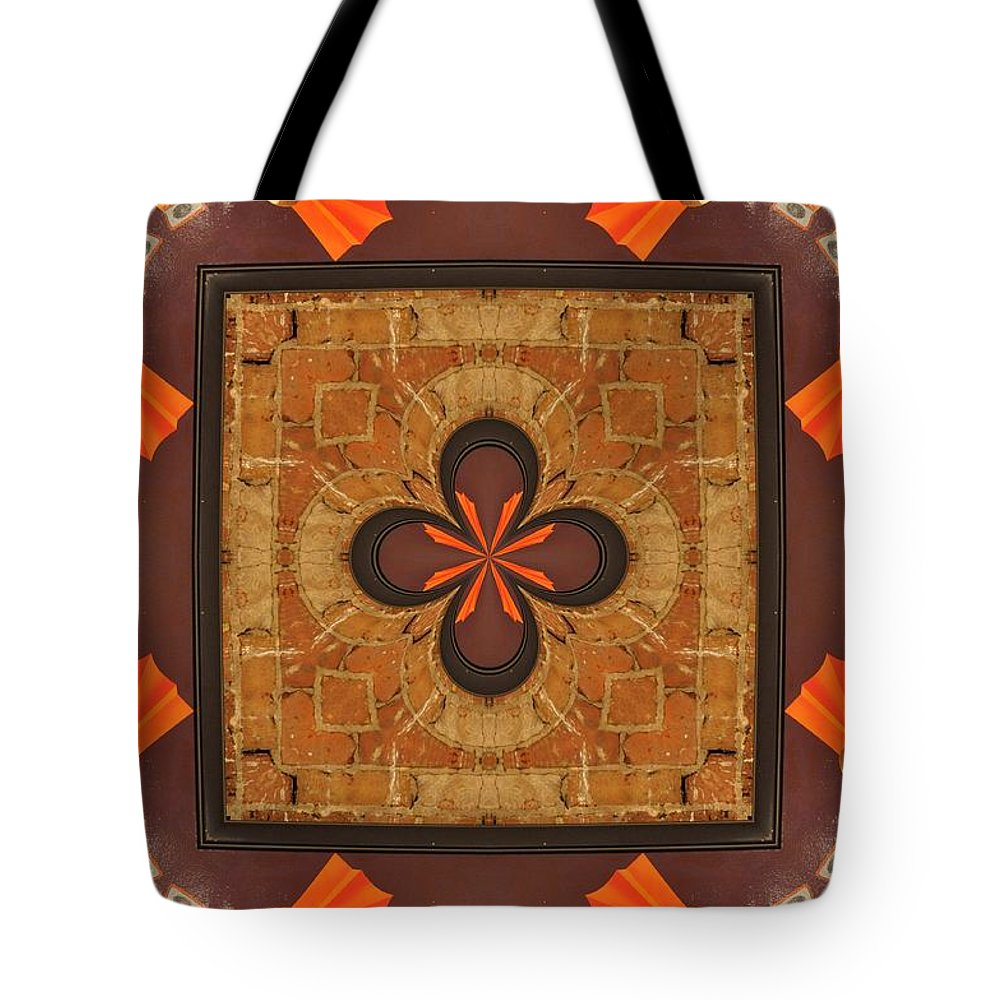Kaleidoscope Tote Bag featuring the photograph K 5 by Jan Amiss Photography