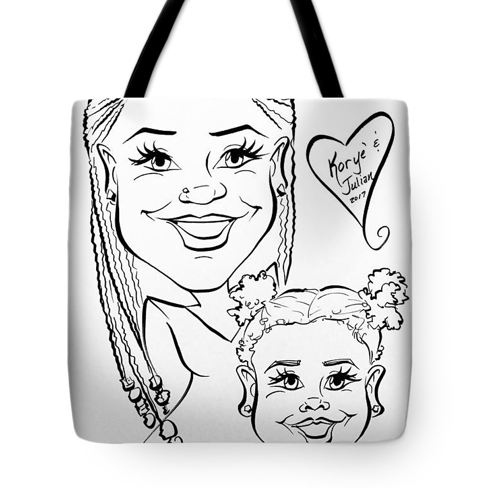 Tote Bag featuring the painting K J by Sally Huhta