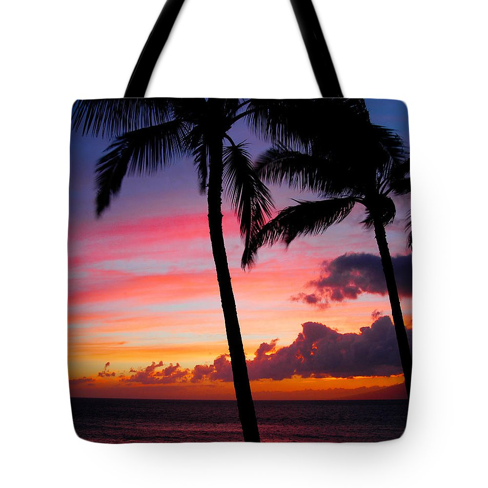 Kaanapali Sunset Tote Bag featuring the photograph Kaanapali Sunset Kaanapali Maui Hawaii by Michael Bessler