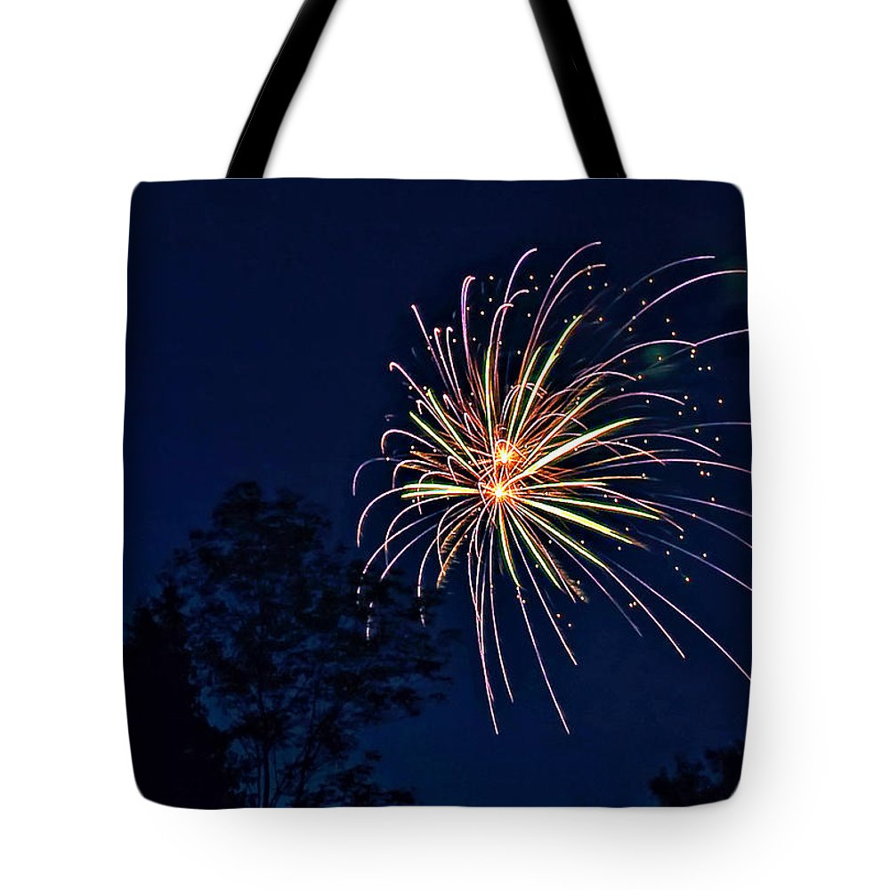 Night Tote Bag featuring the photograph Kaboom by Steve Harrington