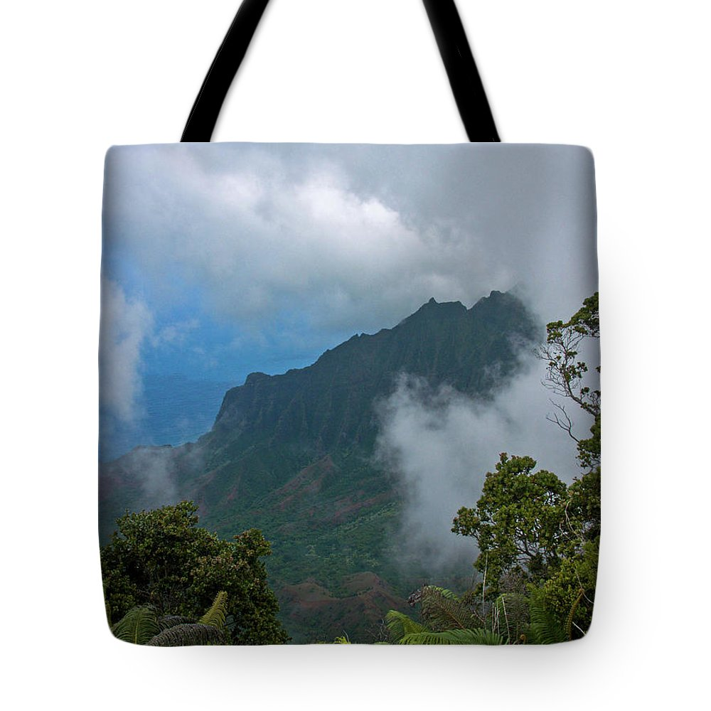 Kauai Tote Bag featuring the photograph Kalalau Valley by Roger Mullenhour