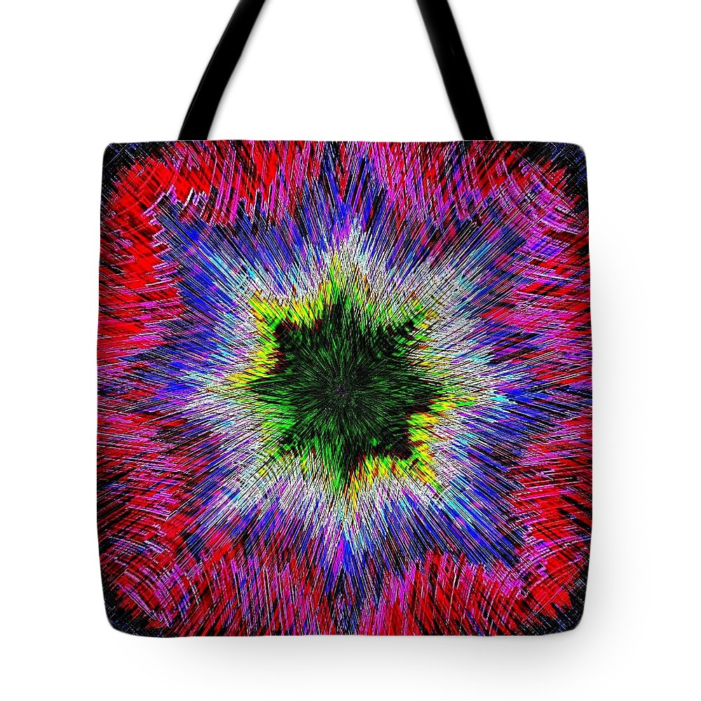 Kaleidomicro Tote Bag featuring the digital art Kaleidomicro by Will Borden