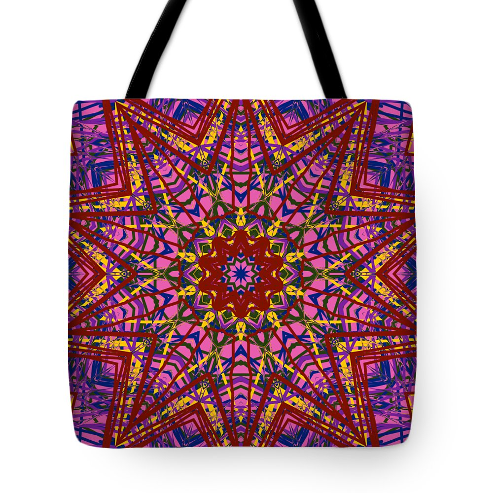 Kaleidoscope Tote Bag featuring the digital art Kaleidoscope 816 by Kristalin Davis