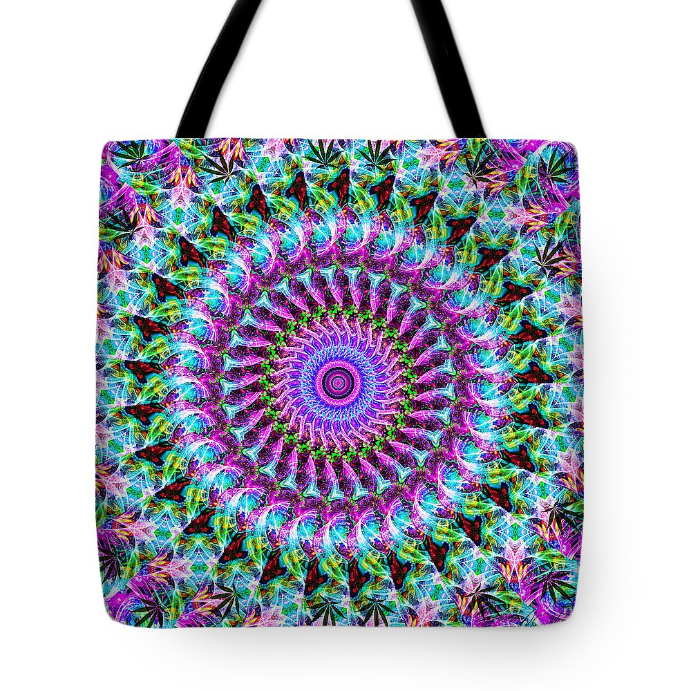Kaleidoscope Tote Bag featuring the digital art Kaleidoscope by Diana Haronis