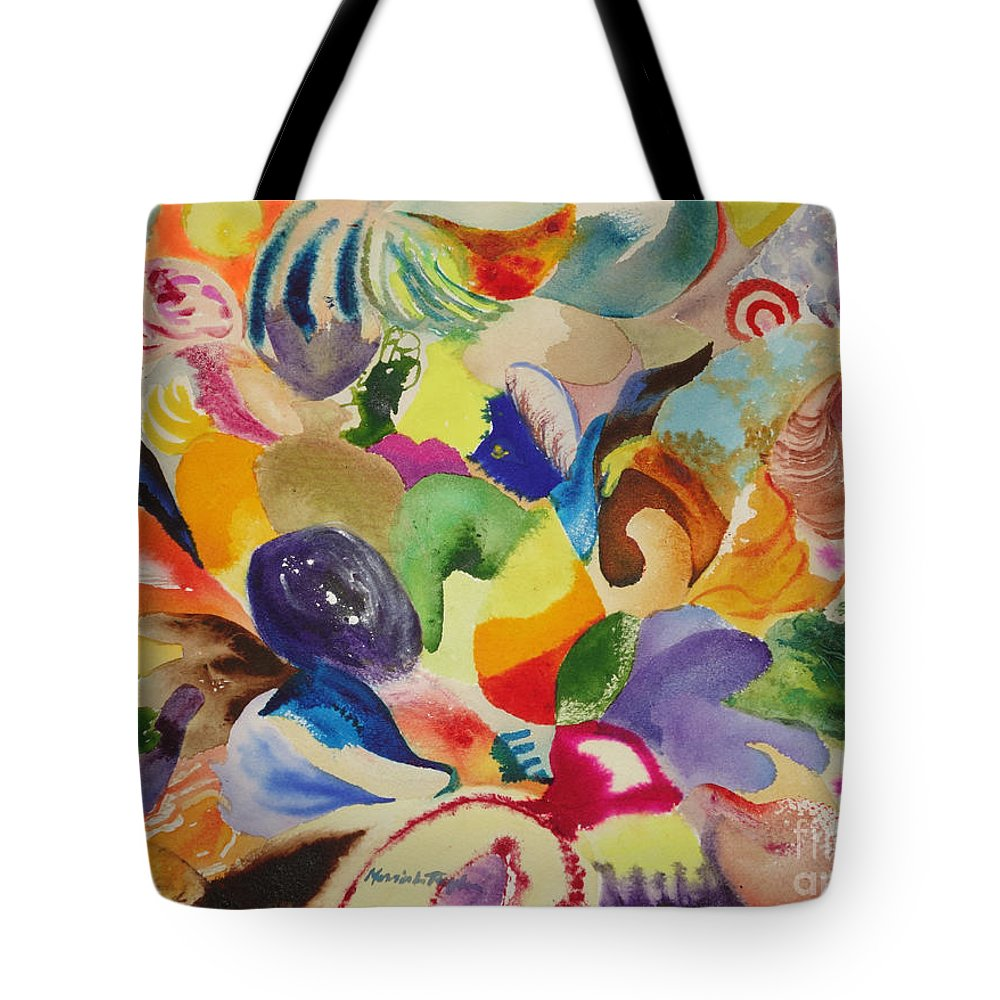 Kaleidoscope Tote Bag featuring the painting Kaleidoscope I by Morris Taylor