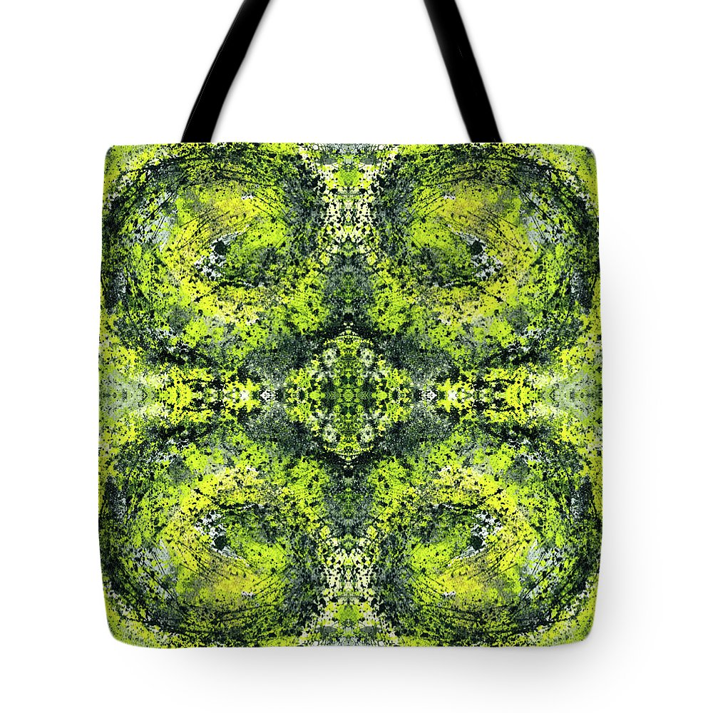 Abstract Tote Bag featuring the mixed media Kaleidoscope Mandalas #1112 by Rainbow Artist Orlando L