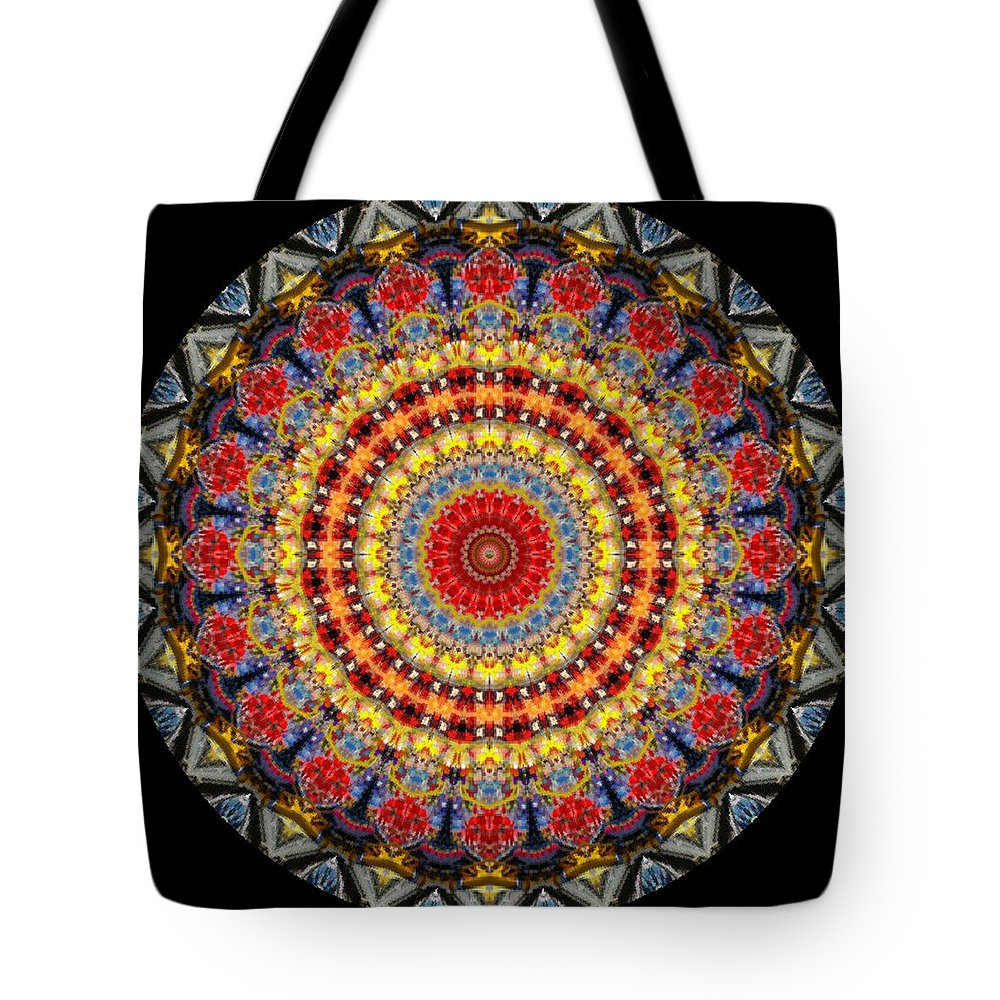 Digital Tote Bag featuring the digital art Kaleidoscope No.5 by Bosko Sabazovic