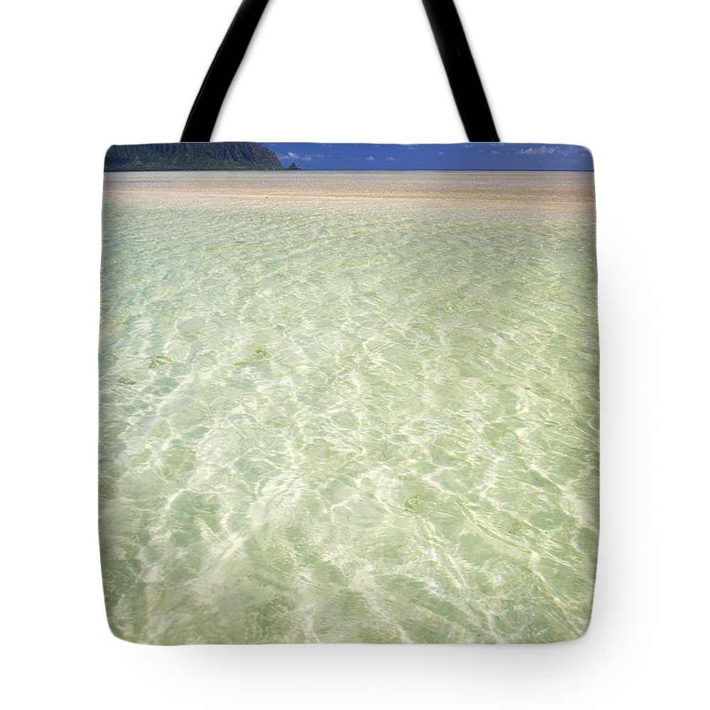 Attraction Tote Bag featuring the photograph Kaneohe Sandbar by Tomas del Amo - Printscapes