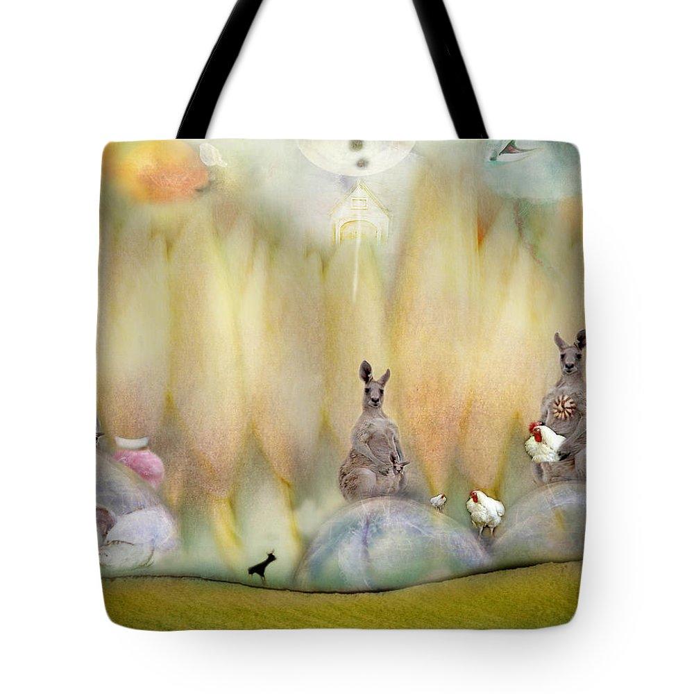 Kangaroo Tote Bag featuring the photograph Kanga by Karen Divine