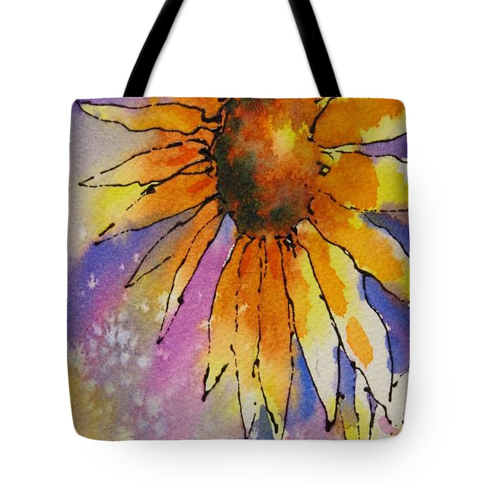 Sunflowers Tote Bag featuring the painting Kansas Day by Tara Moorman