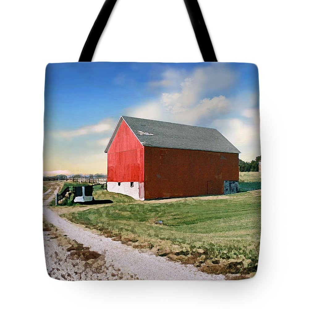 Barn Tote Bag featuring the photograph Kansas Landscape II by Steve Karol
