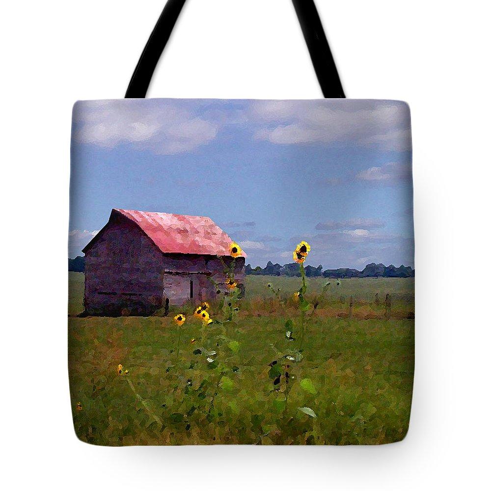 Landscape Tote Bag featuring the photograph Kansas Landscape by Steve Karol