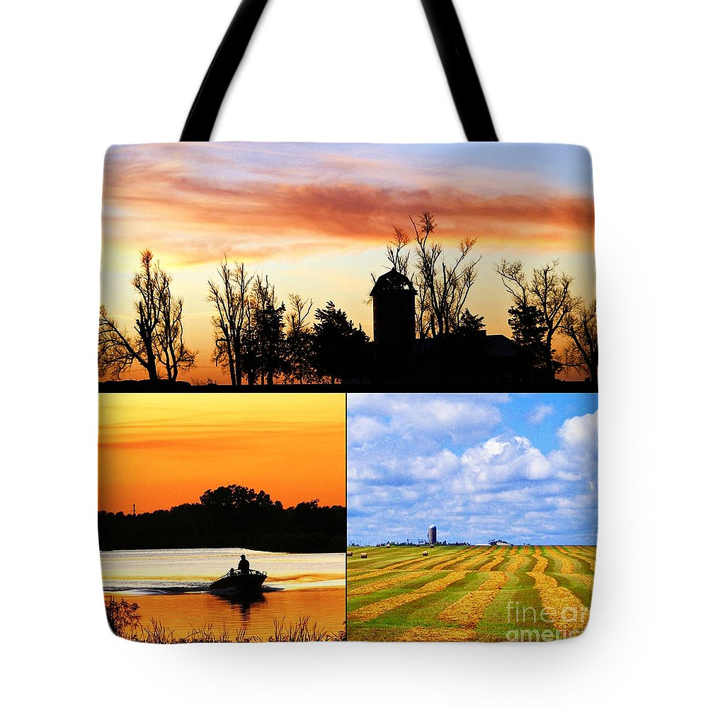 Kansas Tote Bag featuring the photograph Kansas Scenes by Concolleen's Visions Smith