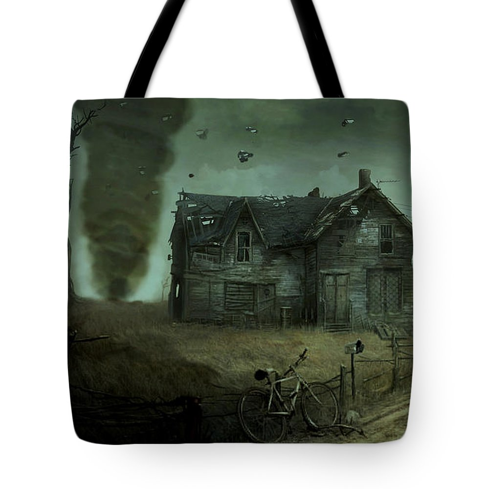 Kansas Tote Bag featuring the photograph Kansas Twister by Movie Poster Prints