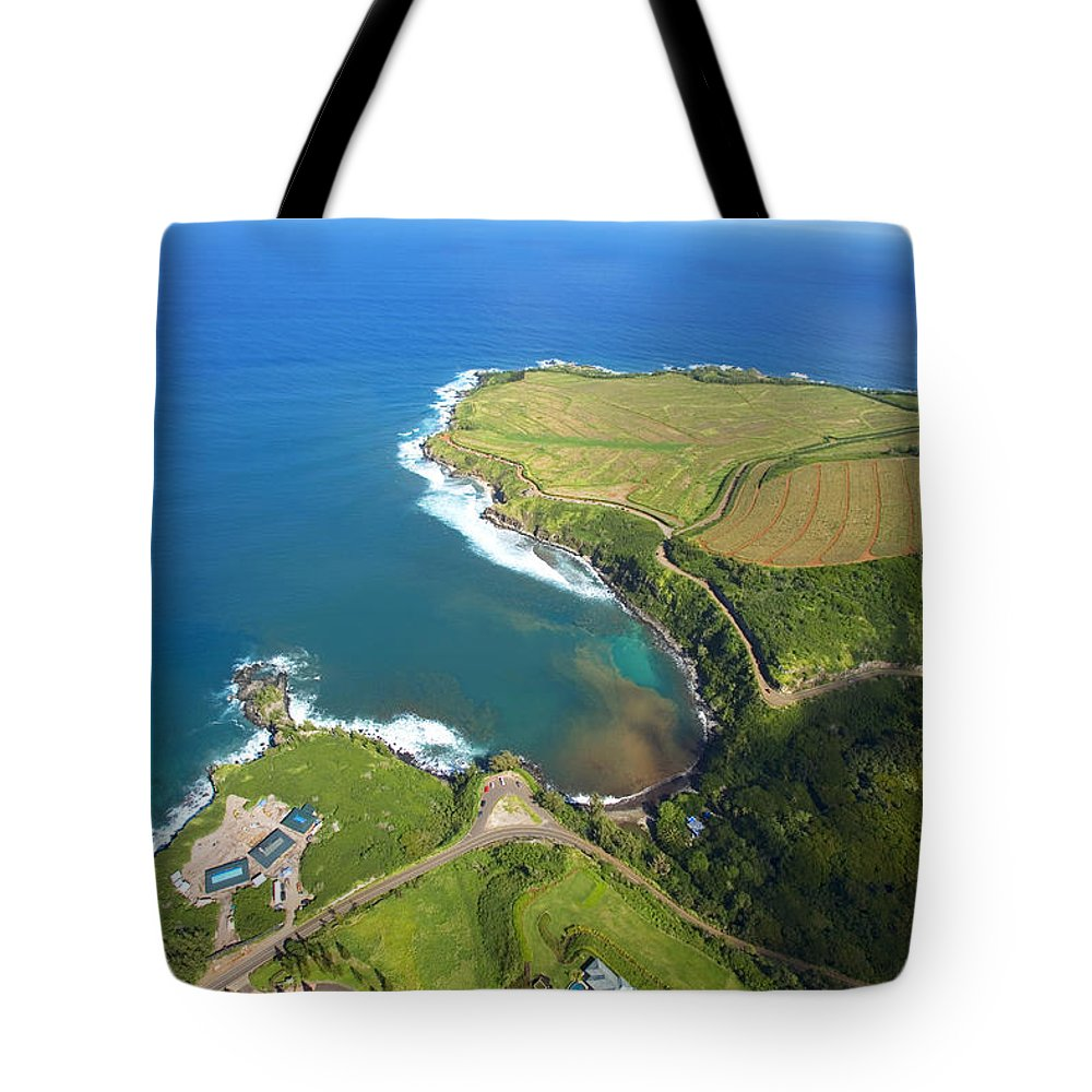 Above Tote Bag featuring the photograph Kapalua Resort by Ron Dahlquist - Printscapes