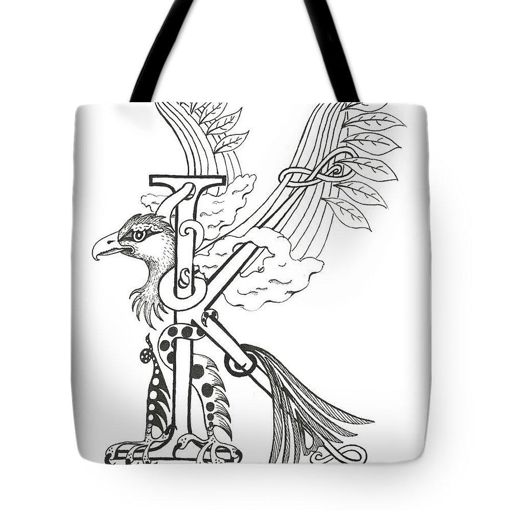 Kappa Tote Bag featuring the drawing Kappa Eagle by Melinda Dare Benfield