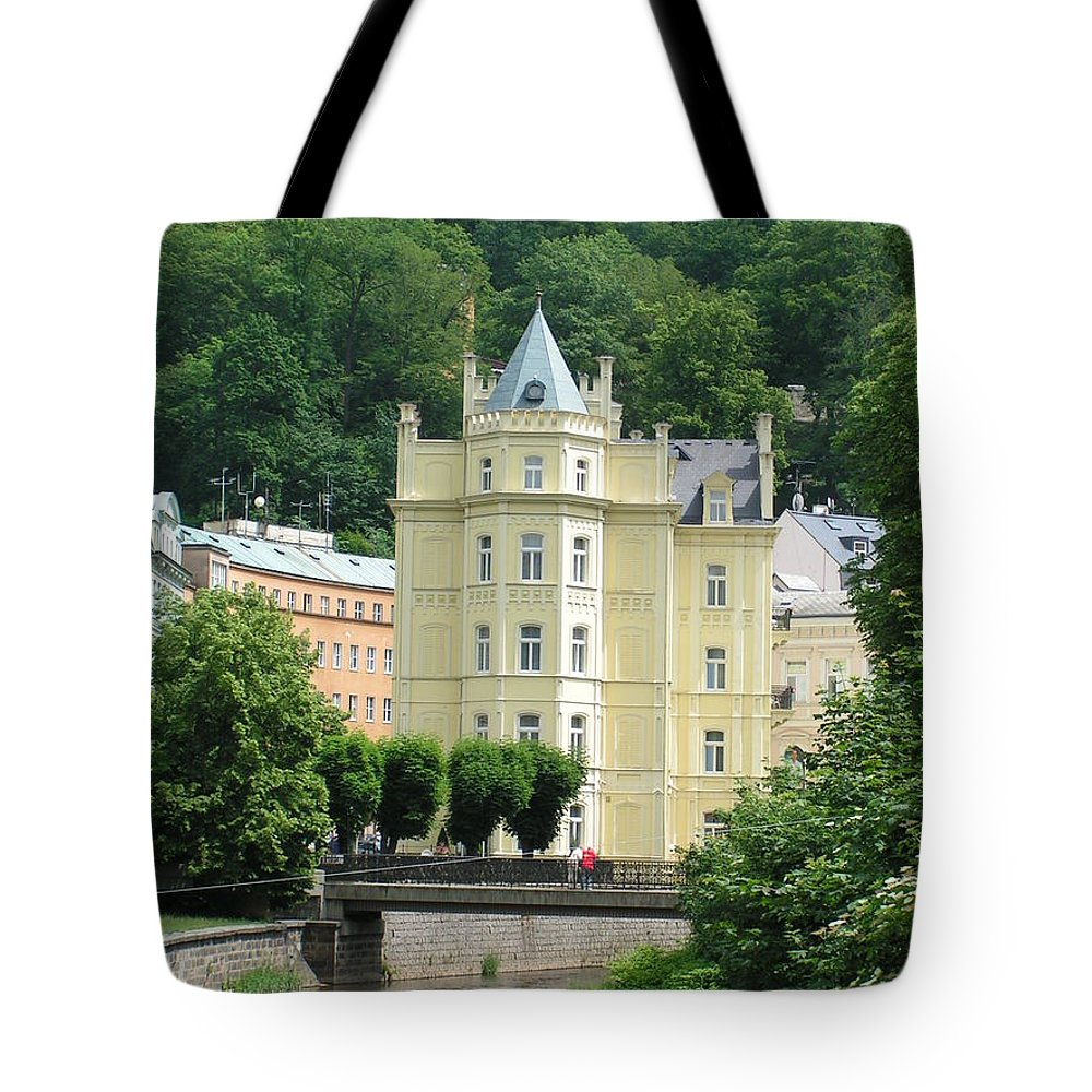 River Tote Bag featuring the photograph Karlovy Vary 1 by Karen Granado