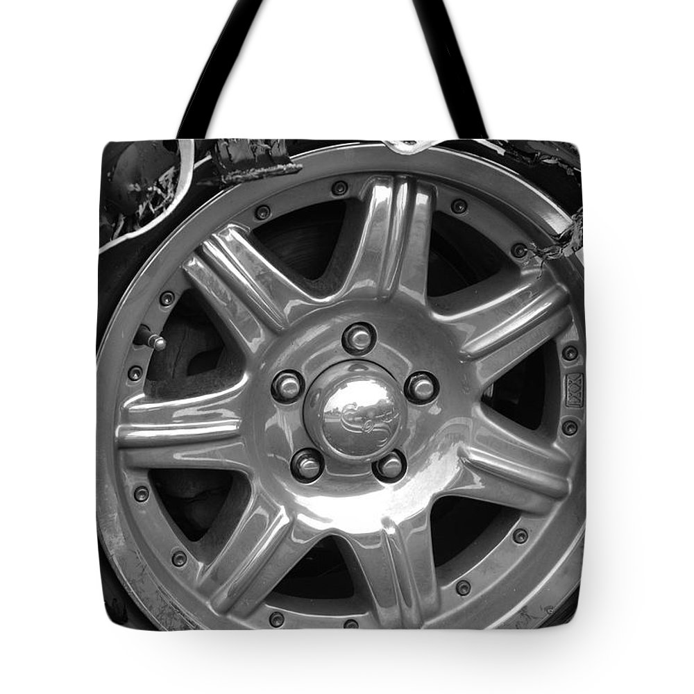 Black And White Tote Bag featuring the photograph Karma Is A Bitch by Rob Hans
