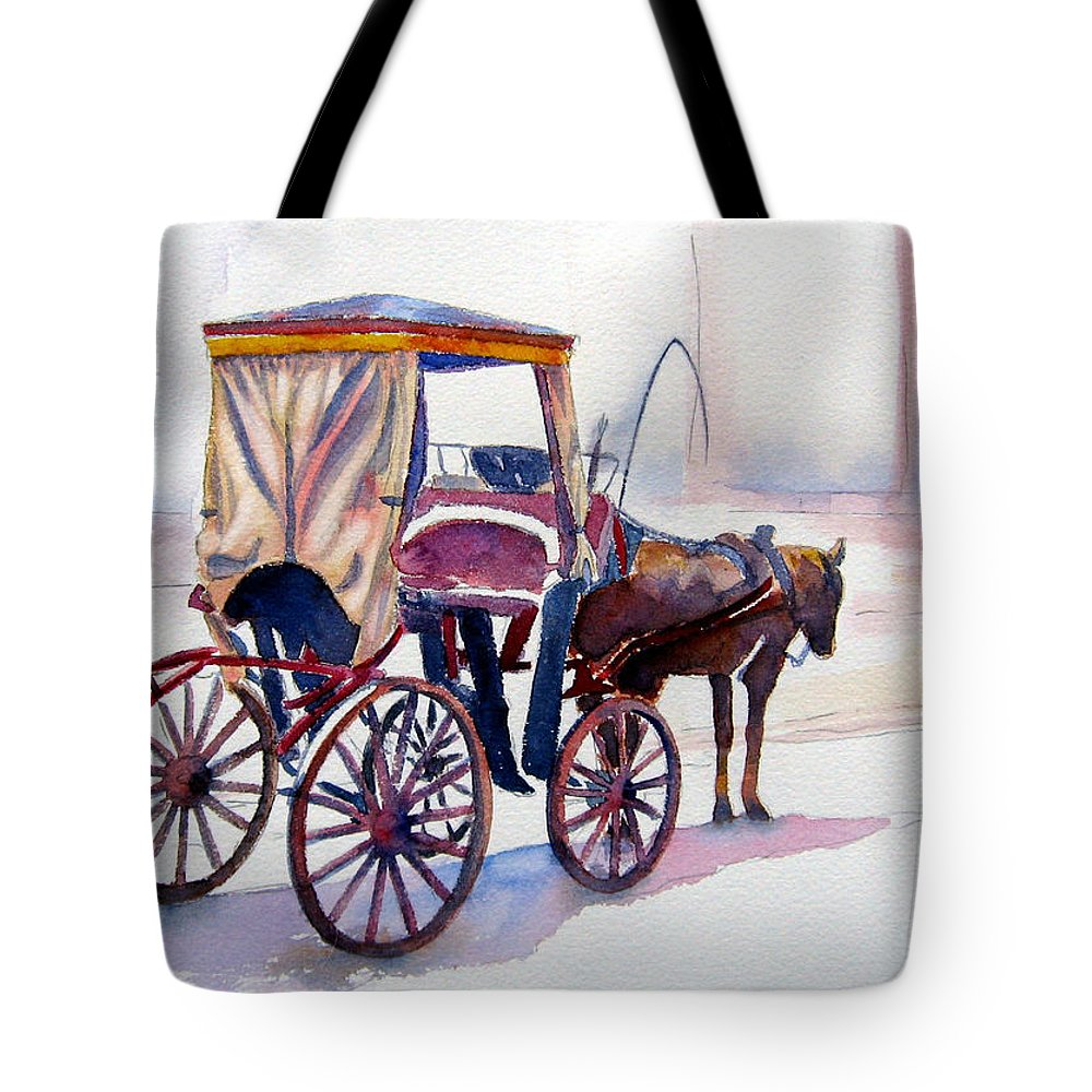 Horse Tote Bag featuring the painting Karozzin by Marsha Elliott