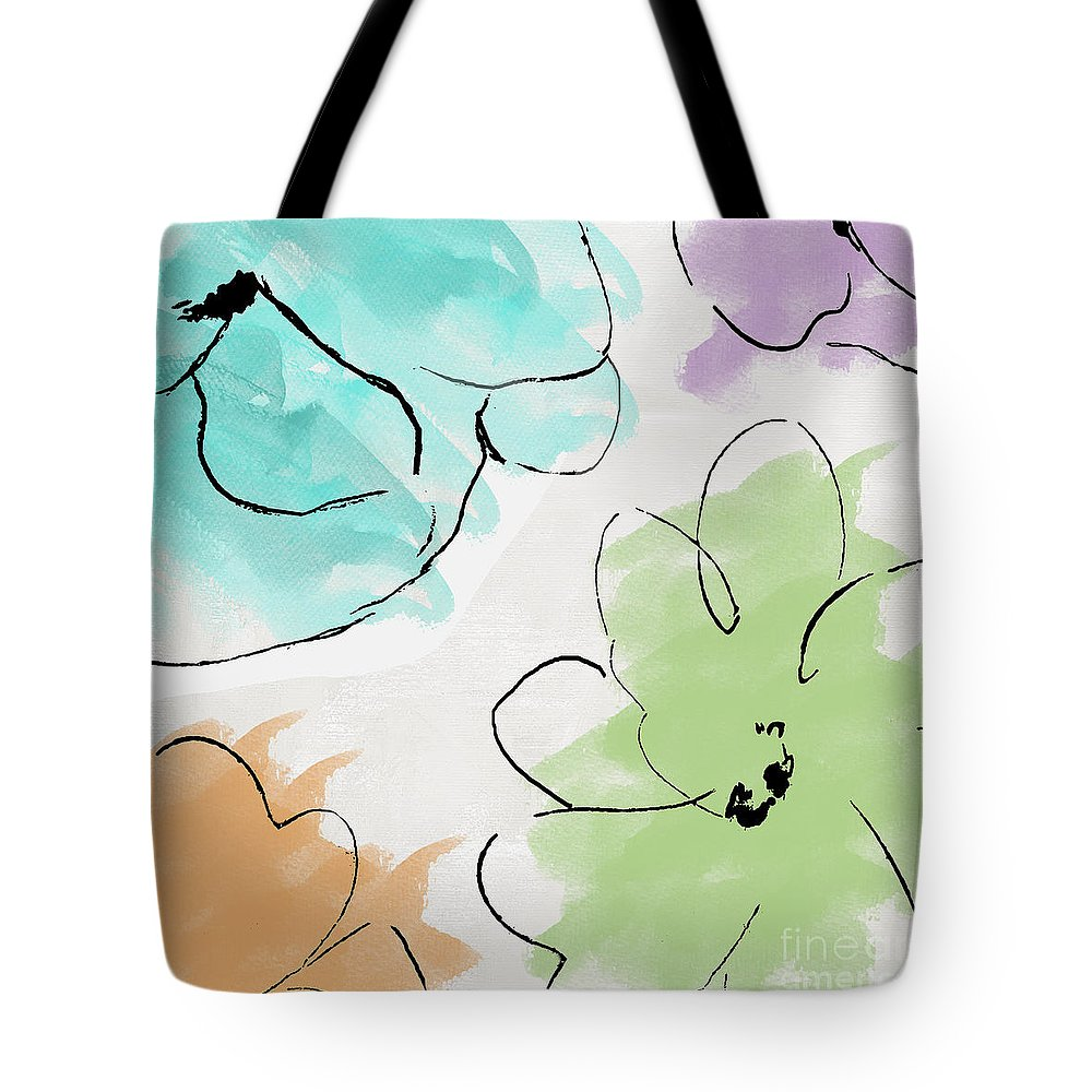 Abstract Tote Bag featuring the painting Kasumi by Mindy Sommers