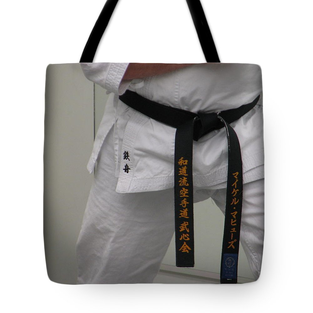 Karate Tote Bag featuring the photograph Kata by Kelly Mezzapelle
